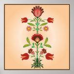 Polish Folk Embroidery Flowers Pattern, Poster