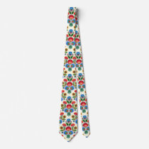 Polish Folk Flowers Tie