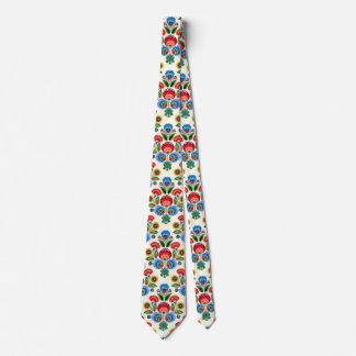 Polish Folk Flowers Tie