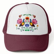 Polish Folk With Decorative Floral & Cockerels Trucker Hat