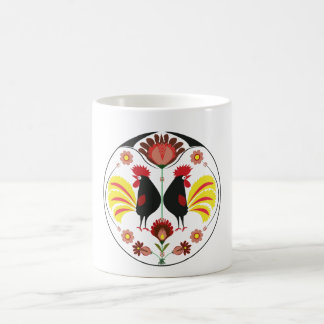 Polish Folk With Decorative Roosters, Mug