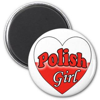 Polish Girl 2 Inch Round Magnet