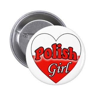 Polish Girl Pinback Buttons
