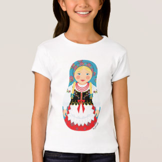 Polish Girl Matryoshka Girls Baby Doll (Fitted) T-Shirt