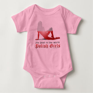 Polish Girl Silhouette Flag Baby Bodysuit
