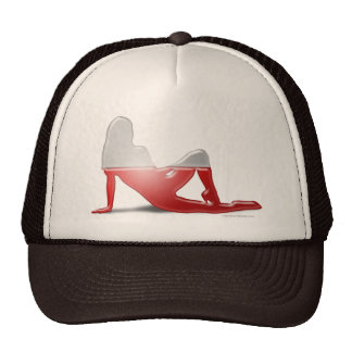 Polish Girl Silhouette Flag Hat