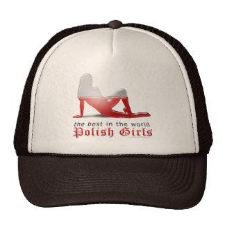 Polish Girl Silhouette Flag Hats