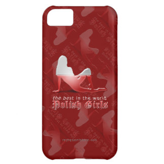 Polish Girl Silhouette Flag iPhone 5C Case