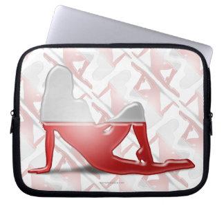 Polish Girl Silhouette Flag Laptop Sleeve