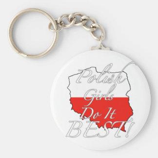 Polish Girls Do It Best! Keychain