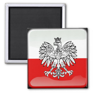 Polish glossy flag magnet
