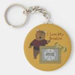 Polish Grandfather Love My Dziadzia Bear Keychain