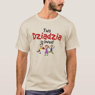 Polish Grandfather T-Shirts Dziadzia is Loved
