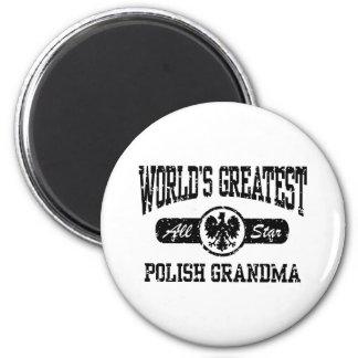 Polish Grandma 2 Inch Round Magnet