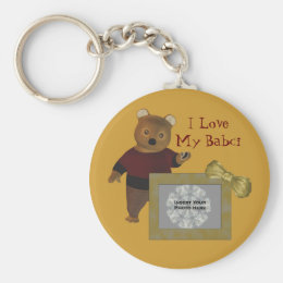Polish Grandmother Love My Babci Bear Keychain