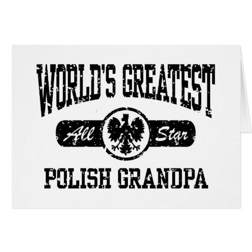 Polish Grandpa Greeting Card