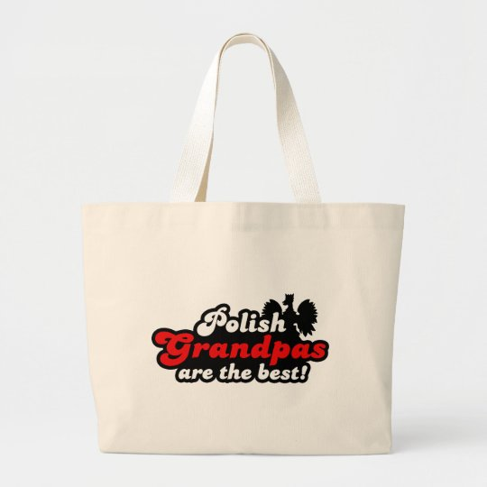 Polish Grandpa Large Tote Bag