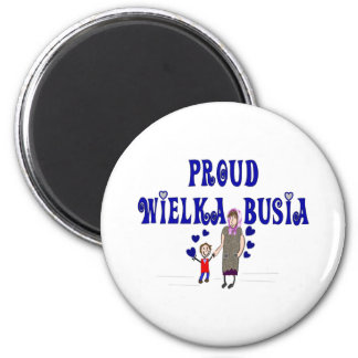 """Polish Great Grandmother """"Wielka Busia"""" 2 Inch Round Magnet"""
