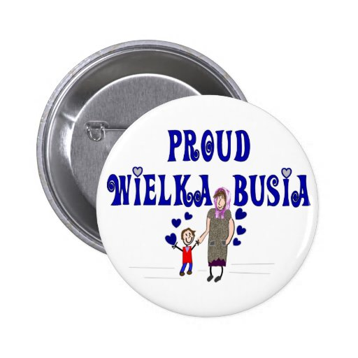 "Polish Great Grandmother ""Wielka Busia"" Button"