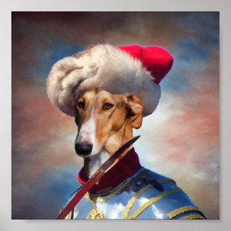 Polish Greyhound-Chart Polski Hussar Canvas Print