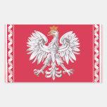 Polish Heritage Rectangular Sticker