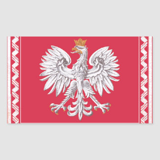 Polish Heritage Rectangle Stickers