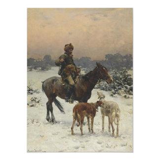 Polish Hunter on Horseback Card