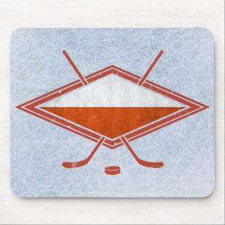 Polish Ice Hockey Flag Logo Mouse Pad