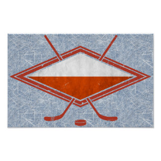 Polish Ice Hockey Flag Logo Poster Print