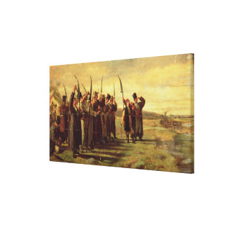 Polish Insurrectionists of the 1863 Rebellion (oil Canvas Print