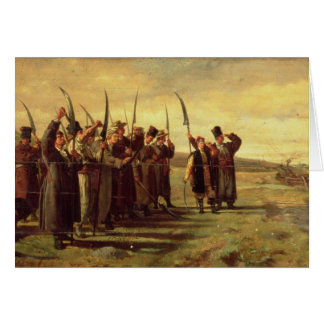 Polish Insurrectionists of the 1863 Rebellion (oil Card