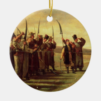 Polish Insurrectionists of the 1863 Rebellion (oil Ceramic Ornament