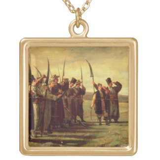 Polish Insurrectionists of the 1863 Rebellion (oil Gold Plated Necklace