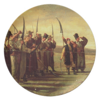 Polish Insurrectionists of the 1863 Rebellion (oil Melamine Plate