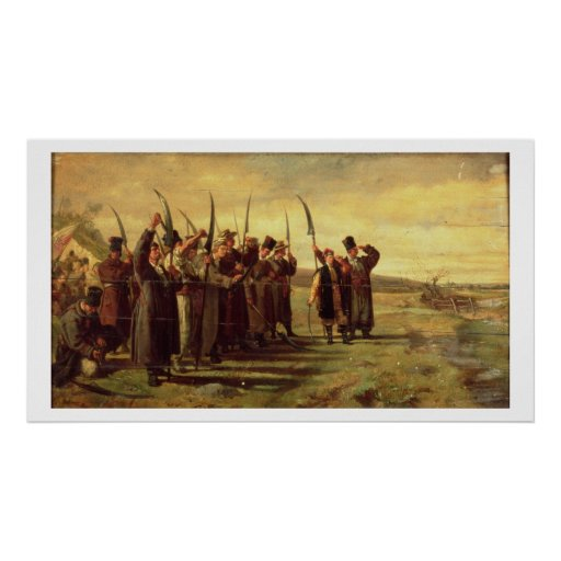 Polish Insurrectionists of the 1863 Rebellion (oil Print