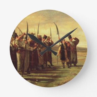 Polish Insurrectionists of the 1863 Rebellion (oil Round Clock