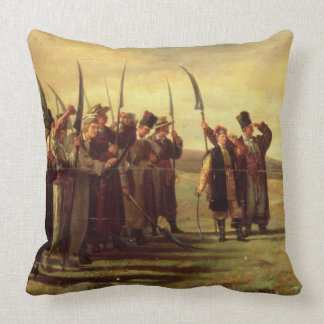 Polish Insurrectionists of the 1863 Rebellion (oil Throw Pillow