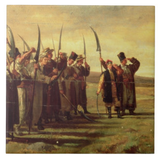 Polish Insurrectionists of the 1863 Rebellion (oil Tile