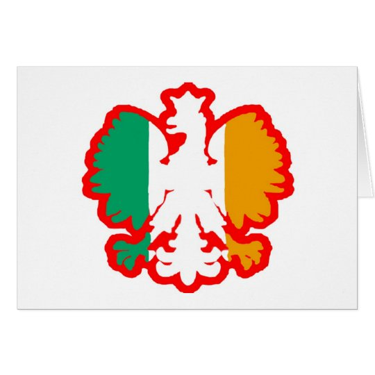 POLISH/IRISH FLAG CARD