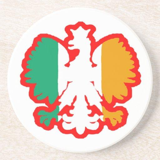 POLISH/IRISH FLAG COASTER