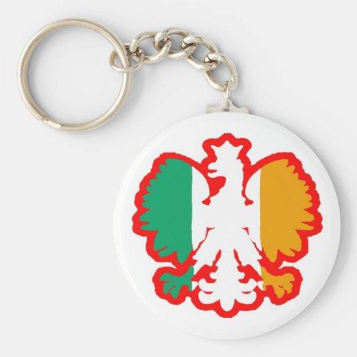 POLISH/IRISH FLAG KEY CHAIN