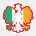 POLISH/IRISH FLAG STICKERS