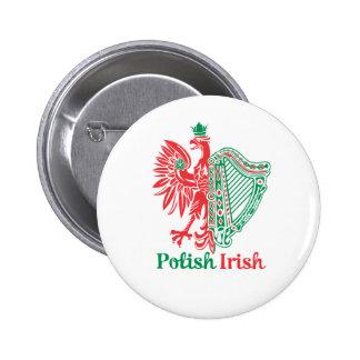 Polish Irish Pinback Button