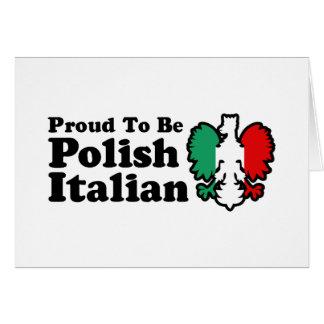 Polish Italian Card
