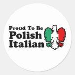Polish Italian Round Stickers