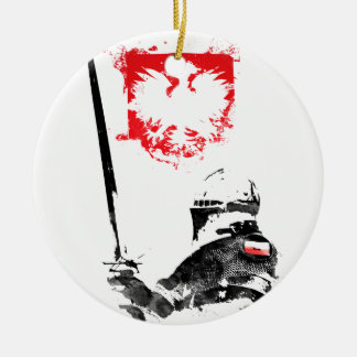 Polish Knight Ceramic Ornament