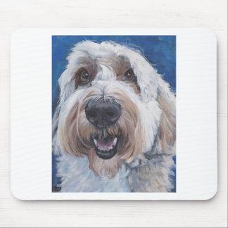 polish lowland sheepdog 11x14 scan mouse pad