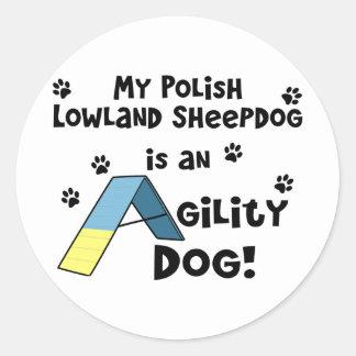 Polish Lowland Sheepdog Agility Dog Classic Round Sticker