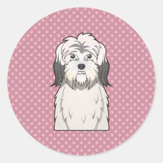 Polish Lowland Sheepdog Cartoon Classic Round Sticker
