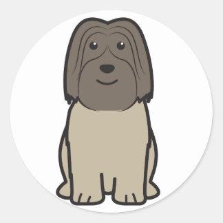 Polish Lowland Sheepdog Dog Cartoon Classic Round Sticker